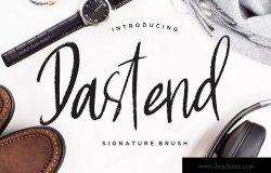 优雅典雅风格英文签名画笔字体 Dastend Signature Brush