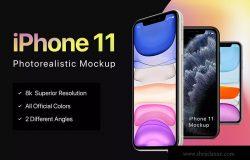 8K超高清分辨率iPhone 11手机样机模板 iPhone 11 Mockup