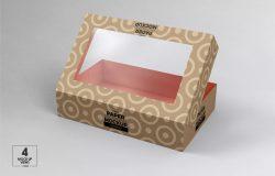 玩具产品透明窗包装纸盒设计样机模板