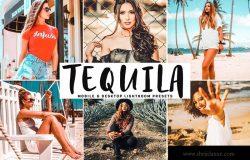 淡红暖色系性感人像摄影后期调色LR预设 Tequila Mobile & Desktop Lightroom Presets