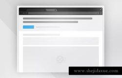 着陆页线框图网页设计素材 wireframe