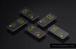 极简主义iPhone X样机模板 Phone X Minimalistic Mock-Ups