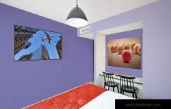 酒店房间装饰画框样机模板