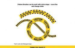23种安全警示带无缝图案Illustrator笔刷