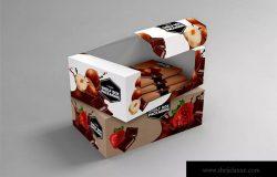 15支包装巧克力零售货架包装盒设计样机 Retail Shelfbox 15 Packaging Mockup