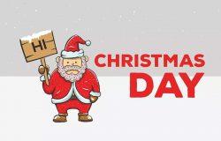 举牌圣诞老人矢量背景图素材