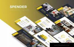 室内设计PPT幻灯片设计模板下载 Spender – Powerpoint Template