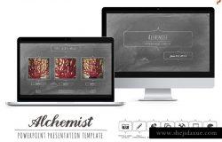 黑板报风格PPT幻灯片模板 Alchemist Powerpoint Templates