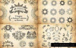 古董边框装饰花边素材合集 Antique Borders and Ornaments