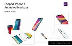UI设计展示动态样机AE模板 for iPhone X