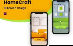 家具商店电商APP应用UI设计XD模板