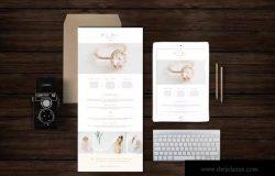工作室或个人创意广告宣传模板 Boudoir Newsletter Template