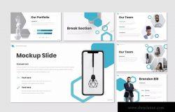 蓝色经典企业宣传业务介绍Keynote演示文稿模板 Rein – Keynote Template