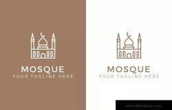 伊斯兰清真寺建筑Logo标志模板 Mosque – Islamic Logo Template