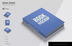 创意独特书籍封面效果预览模板