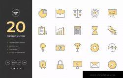 20款创意商业主题矢量图标素材