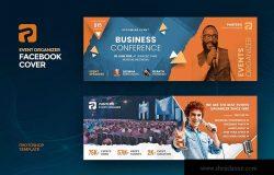 活动会议组织机构Facebook社交主页封面设计模板 Event Organizer Facebook Cover Template
