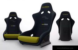 玻璃纤维赛车座椅工业设计图样机 Fiberglass Racing Seat Mockups