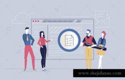 商业策划-扁平化设计插画