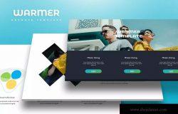 时尚高端多用途企业/个人Keynote幻灯片模板 Warmer – Keynote Template