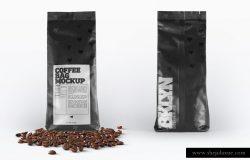咖啡豆袋装外观设计样机 Coffee Bag Packaging Mockup