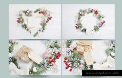 16张高端时尚清新新年圣诞节专业冬季背景样机照片集合