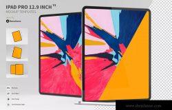 iPad Pro平板电脑UI设计预览样机模板 Ipad Pro 12.9 inch Mockup Template