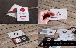 欧盟规格企业名片样机模板 Realistic Business Card Mockups for EU Size