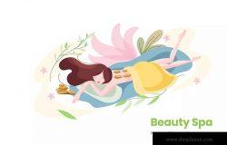 美容SPA主题矢量插画设计素材v9 Beauty Spa Vector Illustration