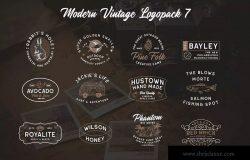 复古图形文字风格Logo设计模板合集07 Modern Vintage Logopack