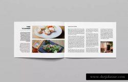 横向规格企业画册&产品目录设计模板 Landscape Magazine