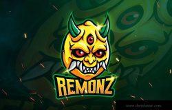 三眼怪电子竞技战队队徽Logo模板 REMONZ – Mascot & Esports Logo