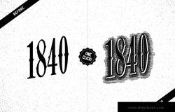 复古蚀刻腐蚀AI图层样式 Etch Vintage Graphic Styles