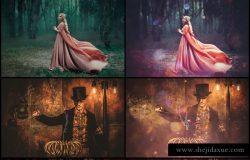 人物魔法仙境魔术照片背景叠层