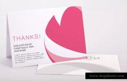折页设计感谢卡感恩卡PSD样机模板素材01 Bifold Thank You Card PSD Mockup 01