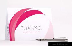 折页感恩卡感谢卡设计PSD样机模板04 Bifold Thank You Card PSD Mockup