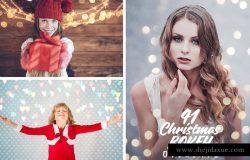 圣诞灯饰光影照片处理图层 Christmas Overlays for Photographers