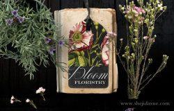 优雅花饰与字母的巧妙组合剪贴画素材 Botanical Blooms & Monograms