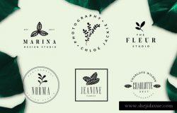 简约优雅品牌公司Logo设计模板 BOTANIKA Logo Pack