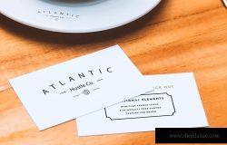 企业VI设计企业名片和咖啡杯样机模板 Business Cards and Coffee Cup Mockup