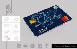 银行卡信用卡样机Mockups