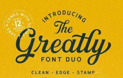 经典脚本&无衬线字体组合 + Logo模板