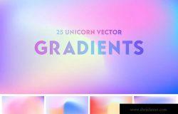25款高分辨率彩色渐变背景素材[AI&JPG] Unicorn Vector Gradients – Colorful Background