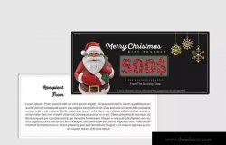圣诞节促销活动现金礼券设计模板