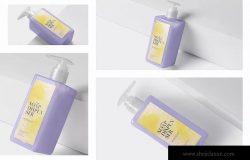 洗发水/沐浴露按压瓶设计效果图样机 Soap Dispenser Mockup Rectangle – Medium Size