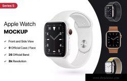 2019年第五代Apple Watch智能手表样机模板 Apple Watch Mockup Series