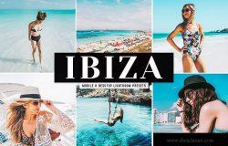 沙滩大海风景人物摄影后期处理LR调色预设 Ibiza Mobile & Desktop Lightroom Presets