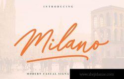 现代创意英文钢笔书法签名字体下载 Milano Signature Font