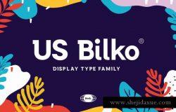 "灵感来自""Museo Slab""无衬线英文字体 US Bilko – Semi-Slab Display Font"