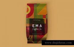 咖啡粉咖啡豆包装袋样机模板 Coffee Bag Mock-up